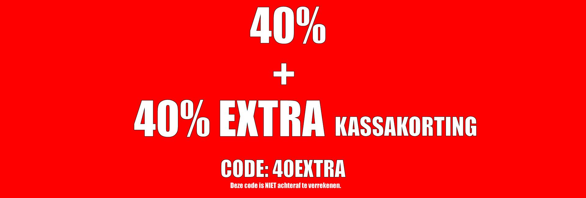 40 + 40% EXTRA