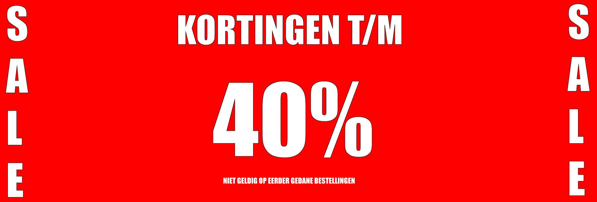 Kortingen t/m 40%
