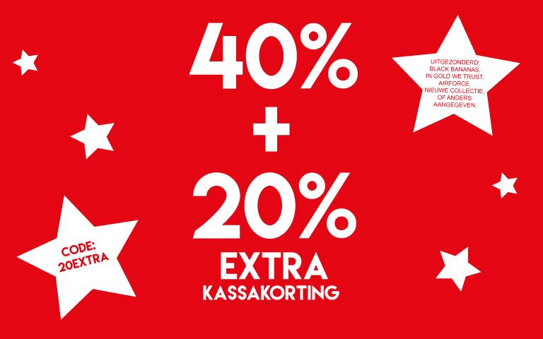 Sale 40% + 20% extra