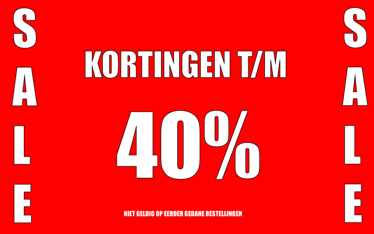 SALE t/m 40% KORTING
