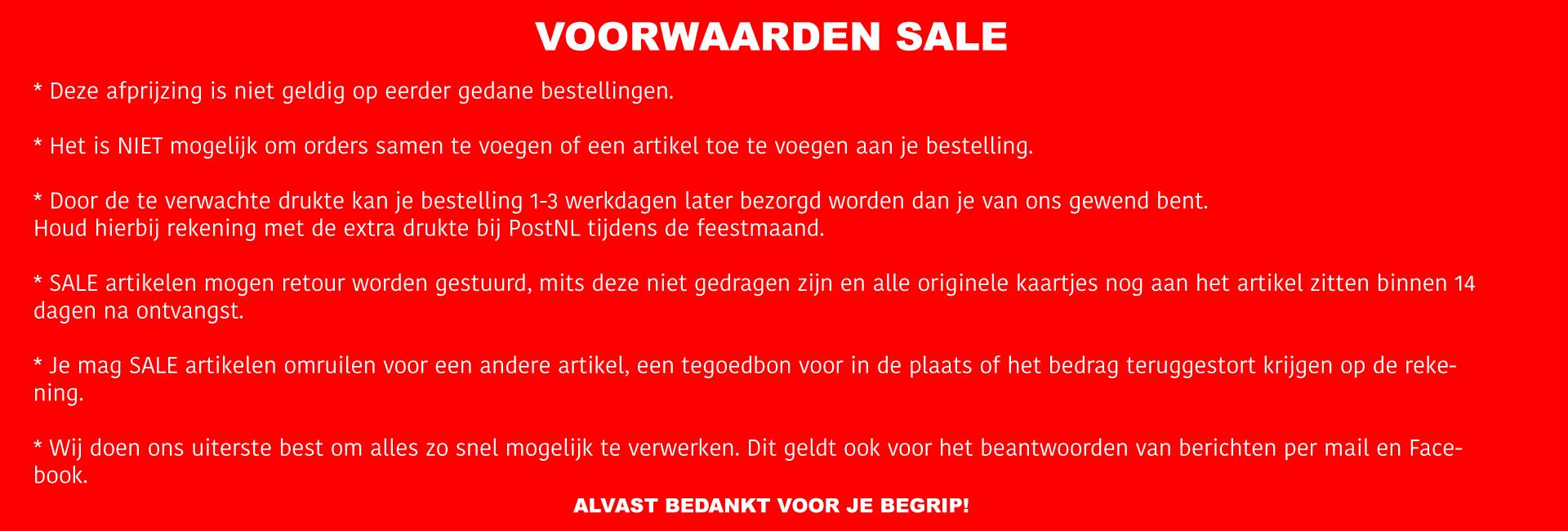 Sale voorwaarden